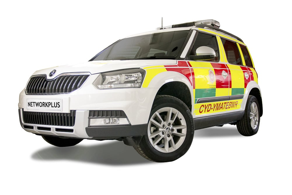 Network Plus - emergency vehicle - commercial photography
